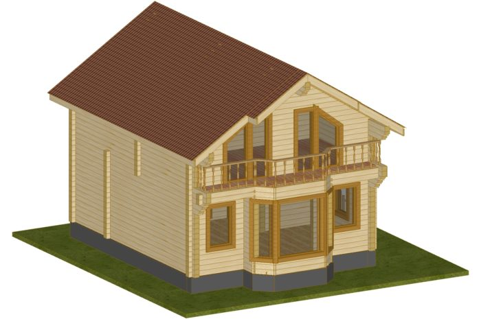 Проект дома 107,5 м2 Сапсан 2