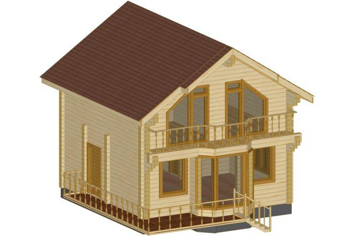 Проект дома 91,92 м2 Сапсан