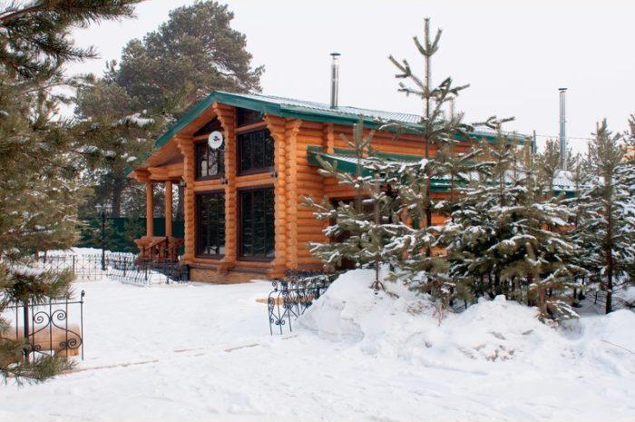 Дом из оцилиндрованного бревна d28 d Минусинском районе