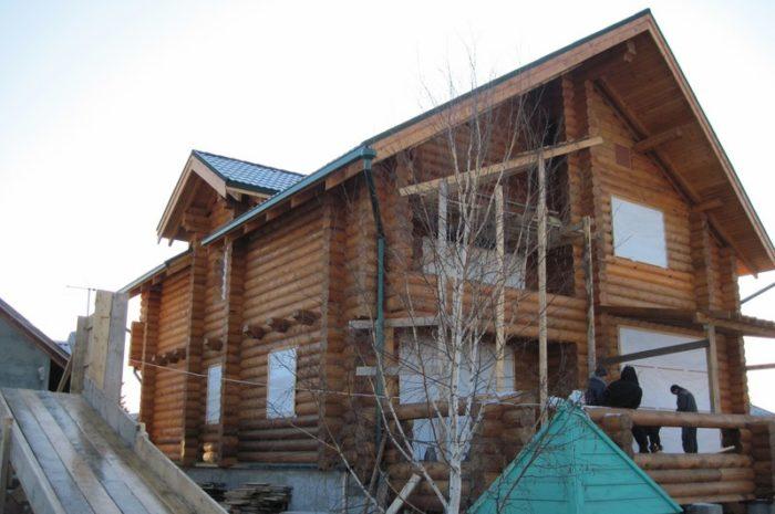 Дом из бревна в Красном Абакане