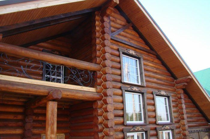 Дом из бревна в Минусинске